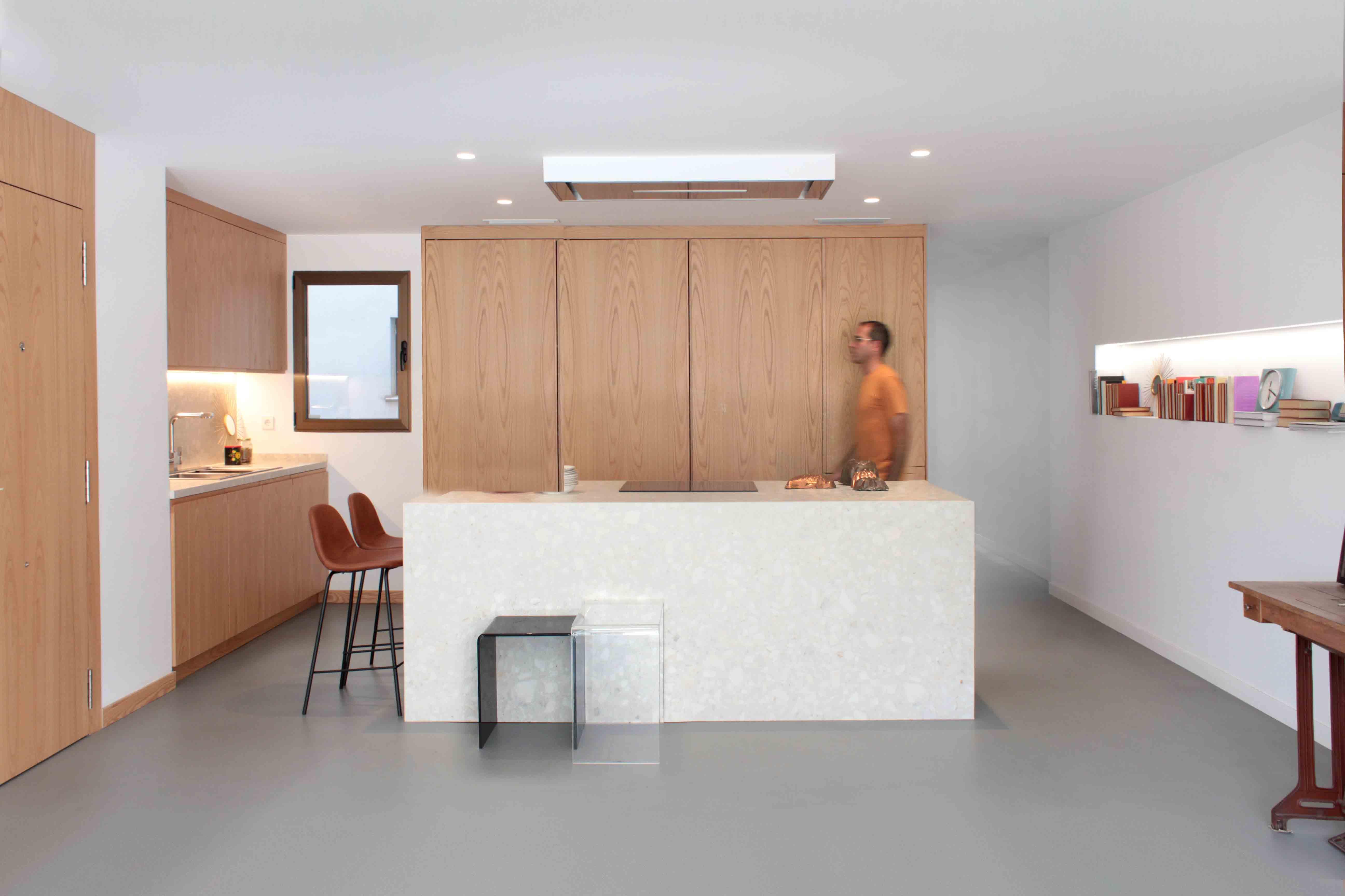 Vista general de la cocina de la vivienda