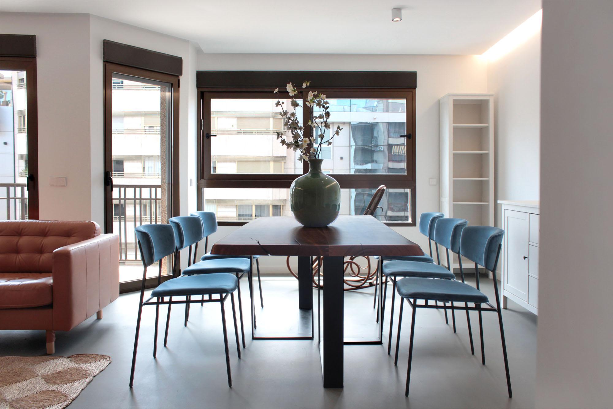 Zona de reunión de apartamento en el centro